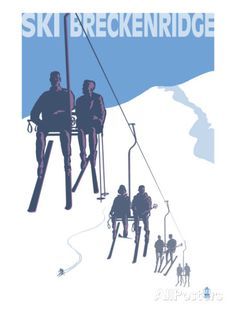 Breckenridge, Colorado Ski Lift Posters at AllPosters.com