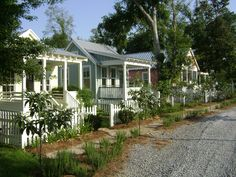 would love a row of these as guest cottages ~ Katrina Cottages ~