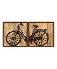 Another great find on #zulily! Retro Bicycle Panels Wall Art Set #zulilyfinds