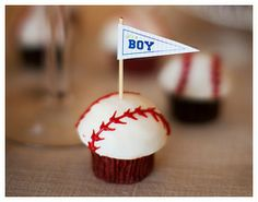 Baseball Themed Baby Shower. Food served: hot dogs, nachos-with pick your own toppings, mini cupcakes, sodas!
