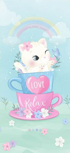 Kawaii Background, Kitten Images, Lavender Aesthetic, Pretty Backgrounds, Character Wallpaper, Cat Art, Cute Wallpapers, Iphone Wallpaper, Hello Kitty