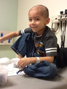 """Toby Hoang was diagnosed with medullablastoma on November 10th, 2011. His mother, Dianna Hoang, sent us this photo in an email: """"While going through this treatment, he has shown amazing strength and he always has a smile always on his face."""""""