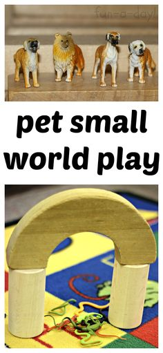 "Pet Small World Play in the Block Center - Fun, easy, and meaningful activity for a pet theme. Hours of fun, with soooo many important skills explored while ""just playing""! The Block, Block Center, Block Area, Classroom Pets, Pet Vet, Kids Daycare, Small World Play, Creative Curriculum, Animal Habitats"