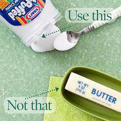 When your frosting recipe calls for butter, try marshmallow cream instead.