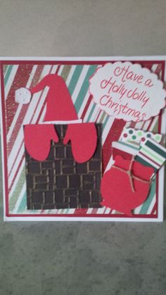 Christmas card that I made with the cricut.