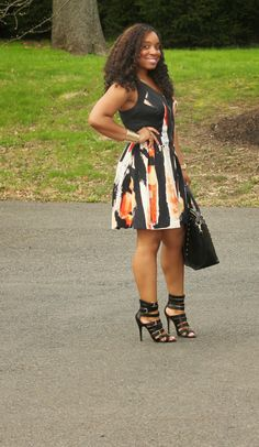 Style & Poise: Fiery Abstract Dress