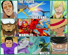 ONE PIECE, Opening 18 - Hard Knock Days, Marines VS MugiwaraStrawhat Pirates, Admiral Kizaru VS Sanji, Fleet Admiral Sakazuki VS Luffy, Admiral Fujitora VS Roronoah Zoro
