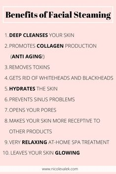How to get glowing skin - find out about the benefits of facial steam and how to diy at home. Easy ways to facial steam for a spa feeling. Face Skin Care, Diy Skin Care, Facial Benefits, Facial Steaming, Steaming Your Face, Skin Care Routine Steps, Face Routine, Facial Care, Up Dos