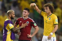 James Rodriguez and Neymar both out of World Cup 2014 after bruising battle - Telegraph Neymar, World Cup 2014, Fifa World Cup, Lionel Messi, Fc Barcelona, James Rodriguez Colombia, James Rodrigues, Cristiano Ronaldo Real Madrid, King Sport