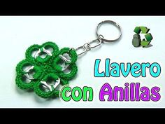 186. Manualidades: Como hacer Llavero con anillas [Trebol de 4 hojas] (Reciclaje) Ecobrisa - YouTube