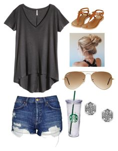 """Untitled #43"" by madi2003-i on Polyvore featuring H&M, Topshop, Kendra Scott and Ray-Ban"