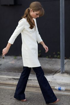 I like it like this too. White Mod dress from Emerson Fry $298