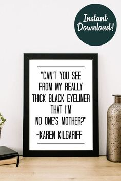 Hey there true crime fan! Make you wall decor an awesome conversation starter! This quote is from the hilarious Karen Kilgariff of the 'My Favorite Murder' podcast. Perfect for a living room, bedroom, or as a gift for your Murderino best friend! Order today! Art Prints Quotes, Wall Art Quotes, Wall Art Prints, Kitchen Art Prints, Art Prints For Home, Karen Kilgariff, Cheap Wall Art, Contemporary Art Prints, Affordable Wall Art