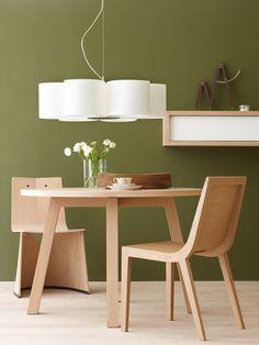 Eichenholz und Olivgrün