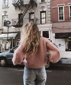 """""""Pink Knit Sweater >> Shop Here """" Style Hippie Chic, Style Année 90, Gypsy Style, Mode Style, Boho Chic, Marie Von Behrens, We Heart It, 90s Fashion, Fashion Trends"""