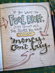 Elvie studio - Inspiration monday I am totally in love with Lori's work Bullet Journal Quotes, Bullet Journal Writing, Bullet Journal Ideas Pages, Art Journal Pages, Art Journaling, Filofax, Positive Energie, Hand Lettering Quotes, Typography