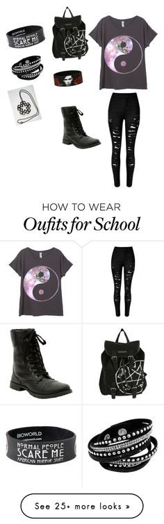 """""""First day of school"""" by leldon-1 on Polyvore featuring women's clothing, women, female, woman, misses and juniors"""