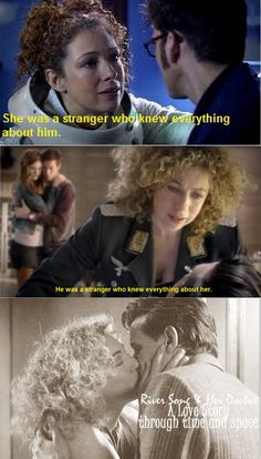 A love story through time... << :( If I could have a wish for Doctor Who its that River and the Doctors relationship continues. Please!!!