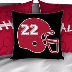 Falcons Bedding, Personalized Football Bedding, Custom Football Bedding, Black and Red, Duvet or Comforter, Football Bed,