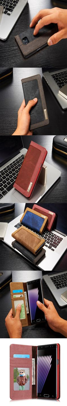 Note 7 Case Retro Wallet Auto Flip Brand Denim Case Card Holder Strap Stand Case For Samsung Galaxy Note 7 Case Note 7 Note