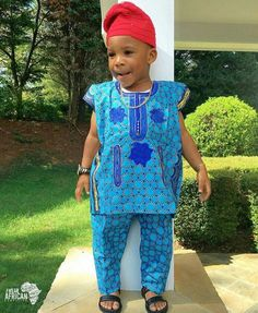 The Cutest Men Ever! When Boys Are Draped In African Fashion Attire; African Men Fashion, Africa Fashion, African Fashion Dresses, Boy Fashion, African Attire, African Wear, African Dress, African Style, Ankara Styles For Kids