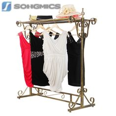 Songmics Kleiderständer Kleiderstange Garderobenständer Ladeneinrichtung HRA006
