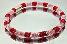 Bead crochet rope necklace  Beadwork necklace modern necklace