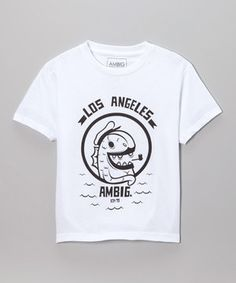 White 'Los Angeles' Tee - Boys by AMBIG #zulily #zulilyfinds