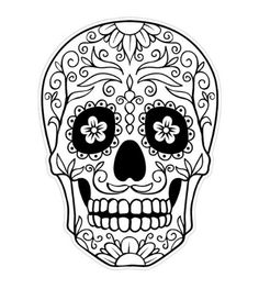 sugar skull outline day of the dead skull coloring pagesjpg - Cinco De Mayo Skull Coloring Pages