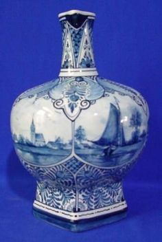RP: Delft Pitcher Very Fine Quality Blue