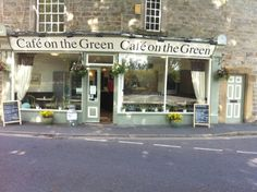 Cafe On The Green at Baslow - you will be unable to resist the huge freshly baked scones! Northern England, Big And Small, Peak District, Cyclists, Old Dogs, Derbyshire, Freshly Baked, The Locals, Britain