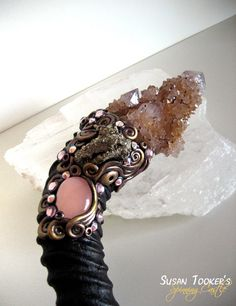 Magic Crystal Wand Spirit Quartz Pyrite Rose Pagan Altar Reiki Wiccan Springbok Horn LOTUS SOULSPIRIT by Spinning Castle