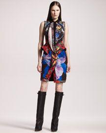 Givenchy Patchwork-Print Cotton Dress