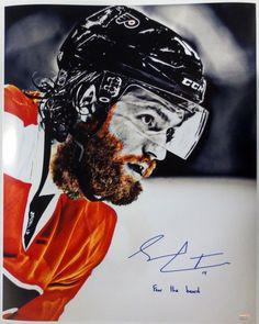Sean Couturier Signed Philadelphia Flyers 16x20 Fear The Beard Photo SI