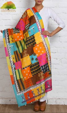 #Multicoloured #Cotton #Dupatta by Udd at Indianroots.com
