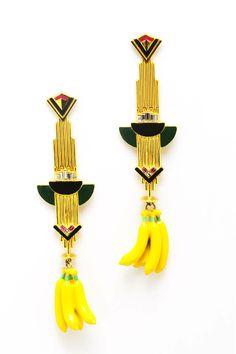 Manish Arora for Amrapali Tribal Pop Eme enamelled earrings.