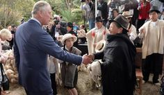 Prince Charles, Prince of Wales meets traditional wool producers at a Sustainability Fair at the Ambassador's Residence on October 29, 2014 in Bogota, Colombia.