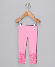 Take a look at this Pink Ruffle Leggings - Infant, Toddler & Girls by Chatti Patti on #zulily today!