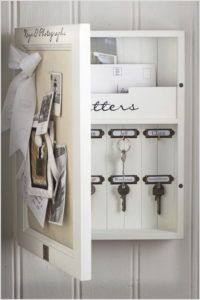 14 Memo Board Key and Mail Storage Cabinet