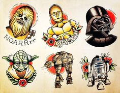 Star Wars Tattoo Flash - LoveItSoMuch.com