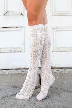 Cream Knit Thigh High Boot Socks (*NEW*)