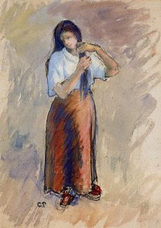 Young Woman Knotting Her Hair