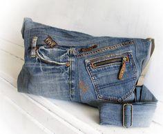 Jeans bag Denim bag Messenger bag Pathwork bag Shoulder bag