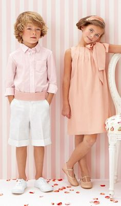 Cute little wedding style...although the boy would look better in white pants