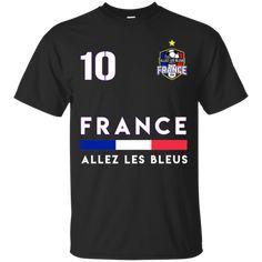 France Football Allez Les Les Bleus T-shirt France World Cup 2018, France 1, France Football, Custom Shirts, T Shirt, Mens Tops, Go Blue, Custom Tailored Shirts, Supreme T Shirt