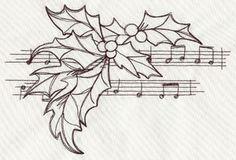 Craft some joyful Christmas music with this light-stitching design.
