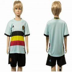#Belgien Trøje Børn 2016 Udebanetrøje Kort ærmer.199,62KR.shirtshopservice@gmail.com