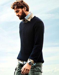 Knit Sweater + Cargo Pants