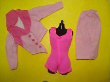 Vtg Jem and the Holograms 80s CLONE TOTSY Doll Clothes Lot PINK VELVET Skirt Set