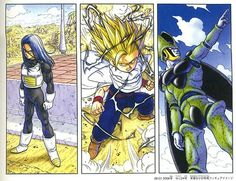 Trunks, Gohan, and Perfect Cell